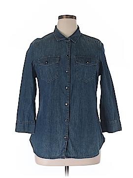 Calvin Klein 3/4 Sleeve Button-Down Shirt Size XL