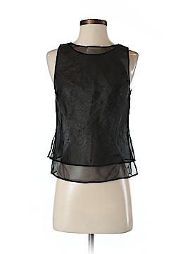 BCBGMAXAZRIA Sleeveless Silk Top Size 2