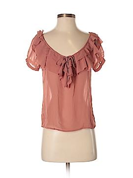 DownEast Basics Short Sleeve Blouse Size XXS