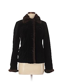Black Rivet Faux Fur Jacket Size 8