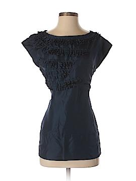 Cynthia Rowley Short Sleeve Silk Top Size S
