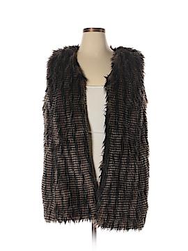 Chico's Faux Fur Vest Size Lg (2)