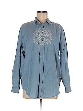 Hunt Club Long Sleeve Button-Down Shirt Size M
