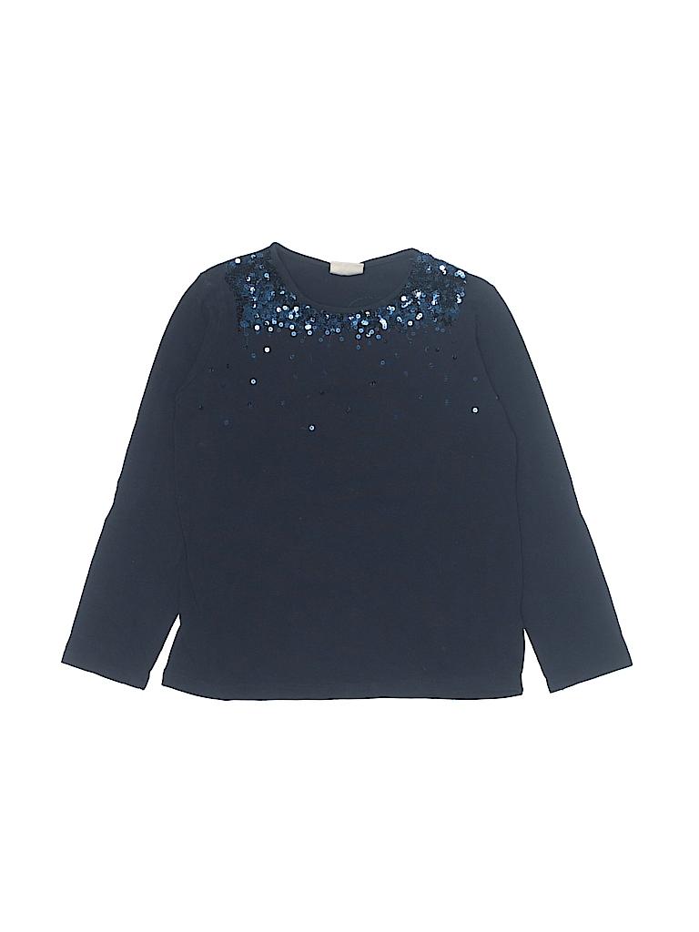 9e3f6d6c Zara Solid Navy Blue Long Sleeve T-Shirt Size 7 - 8 - 76% off | thredUP