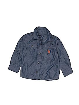 U.S. Polo Assn. Long Sleeve Button-Down Shirt Size 2T