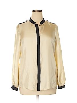 Tory Burch Long Sleeve Silk Top Size 14
