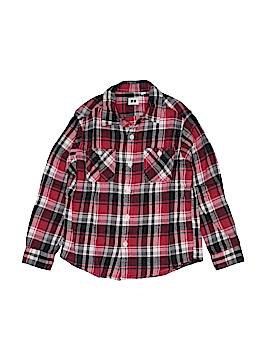 Uniqlo Long Sleeve Button-Down Shirt Size 130 (CM)