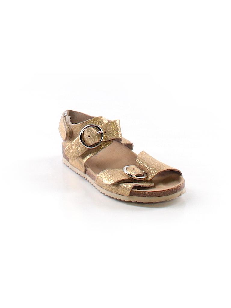 Zara Baby Solid Gold Sandals Size 24