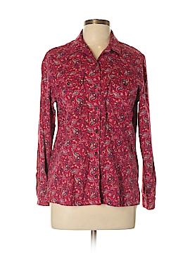 Crazy Horse by Liz Claiborne Long Sleeve Button-Down Shirt Size L