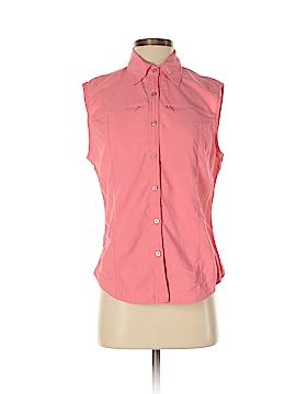 Nina Capri Sleeveless Button-Down Shirt Size M