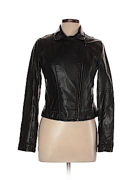 Zara Basic Faux Leather Jacket Size L