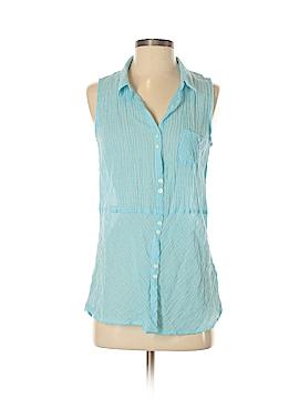 C&C California Sleeveless Button-Down Shirt Size S