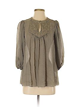 Badgley Mischka 3/4 Sleeve Silk Top Size XS