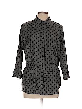 Evan Picone 3/4 Sleeve Button-Down Shirt Size 10