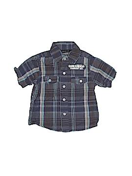 CALVIN KLEIN JEANS Short Sleeve Button-Down Shirt Size 18 mo