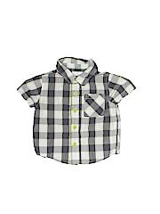 Small Wonders Boys Short Sleeve Button-Down Shirt Size 3-6 mo