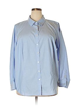 Talbots Long Sleeve Button-Down Shirt Size 20W (Plus)