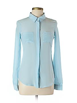Isaac Mizrahi Long Sleeve Silk Top Size L