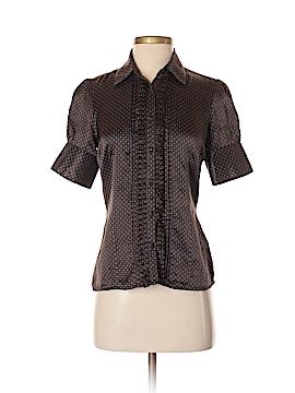 Ben Sherman Short Sleeve Silk Top Size XS