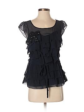 Floreat Short Sleeve Silk Top Size 0