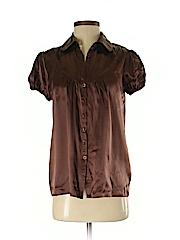 ECI Women Short Sleeve Silk Top Size 4