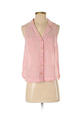 HD in Paris Sleeveless Button-Down Shirt Size 4