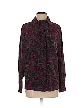 Ellen Tracy Long Sleeve Silk Top Size 2