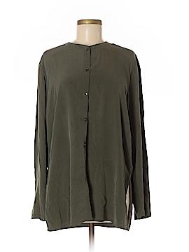 Charter Club Long Sleeve Silk Top Size M