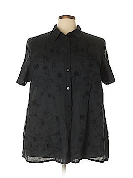 Avenue Short Sleeve Button-Down Shirt Size 26 - 28 Plus (Plus)