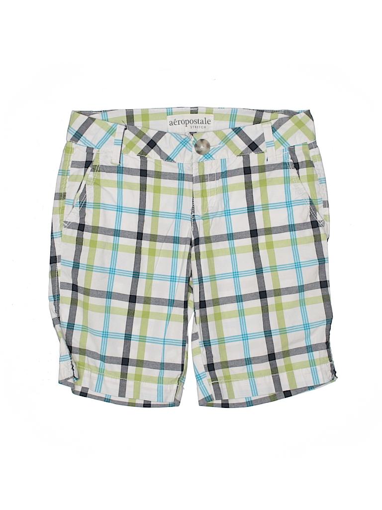 64b00d97df948 Aeropostale Plaid Navy Blue Khaki Shorts Size 0 - 95% off