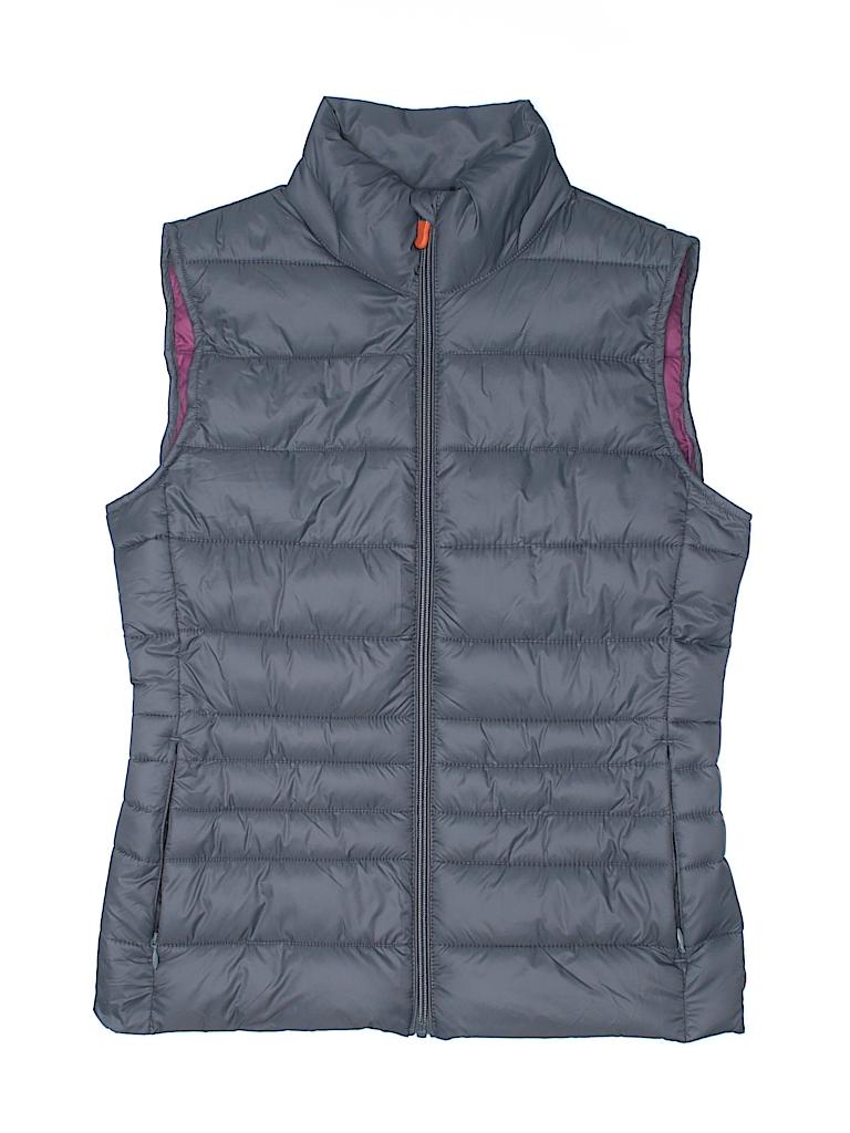 c5e040446791d Save the Duck 100% Nylon Solid Gray Vest Size 1 - 97% off