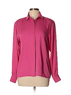 Evan Picone Long Sleeve Button-Down Shirt Size 10