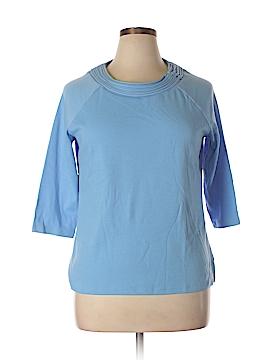 Draper's & Damon's 3/4 Sleeve Top Size L (Petite)