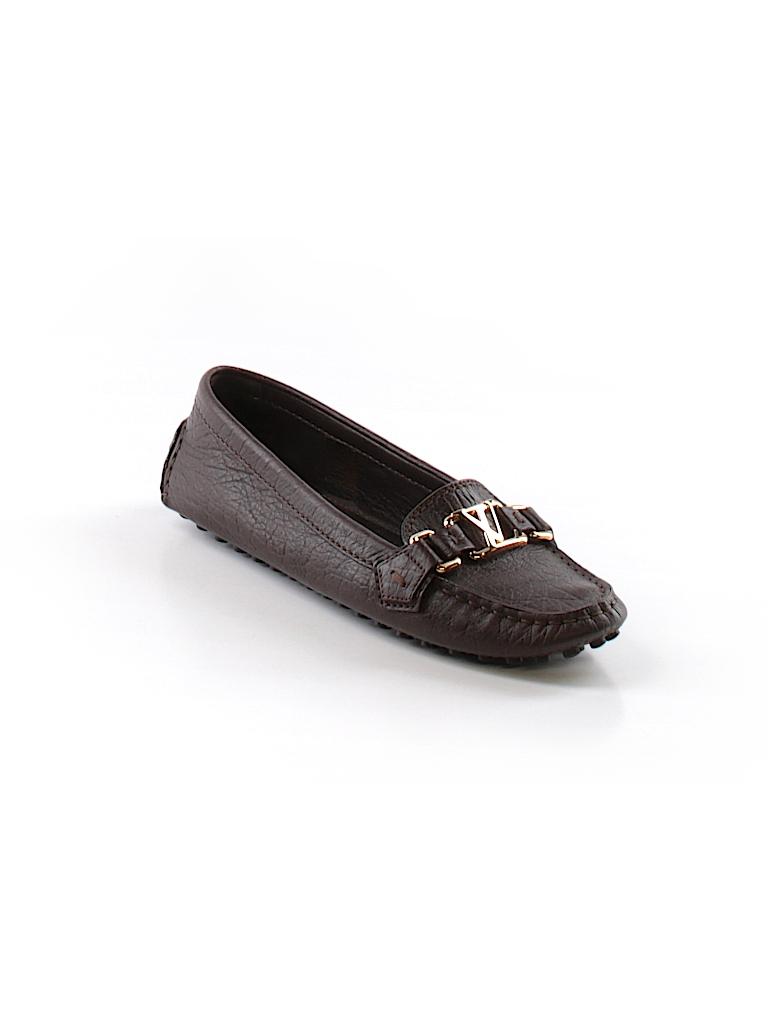 7cec6e6f996 Louis Vuitton Solid Brown Flats Size 36.5 (IT) - 70% off