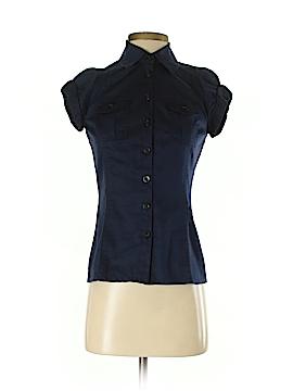 Diane von Furstenberg Short Sleeve Button-Down Shirt Size 0