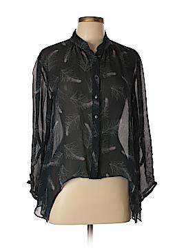 Hinge Long Sleeve Silk Top Size L