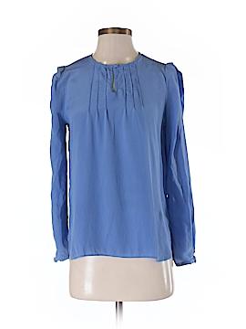 Greylin Long Sleeve Silk Top Size M