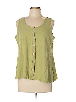 Cut.Loose Sleeveless Button-Down Shirt Size L