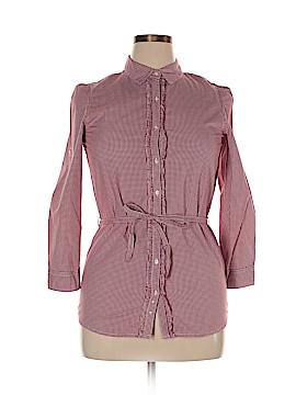 Lands' End 3/4 Sleeve Button-Down Shirt Size 16