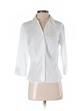Scott Taylor 3/4 Sleeve Button-Down Shirt Size M (Petite)