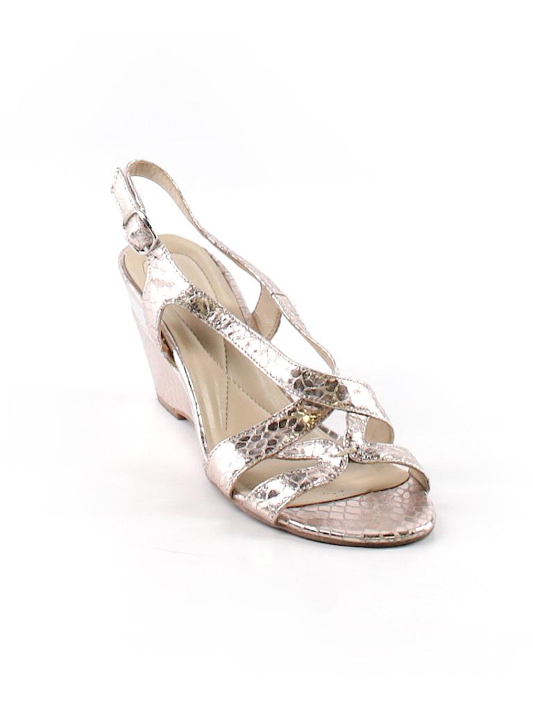 4826c6e3ee179 Andrew Geller Animal Print Metallic Silver Wedges Size 7 1 2 - 75 ...