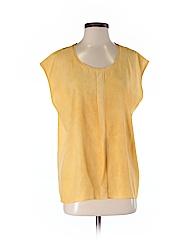 Elie Tahari Women Short Sleeve Silk Top Size M
