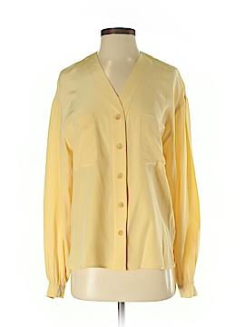 Liz Claiborne Collection Long Sleeve Silk Top Size 4