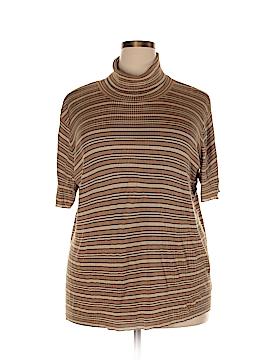 Rena Rowan Short Sleeve Silk Top Size 2X (Plus)