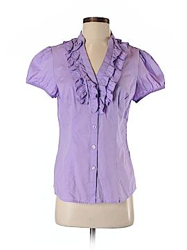 Ann Taylor LOFT Outlet Short Sleeve Button-Down Shirt Size 4