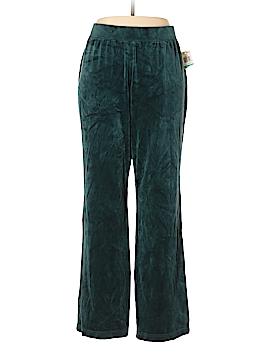 Karen Scott Velour Pants Size 0X (Plus)