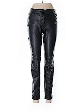 ABS Platinum Faux Leather Pants Size 8
