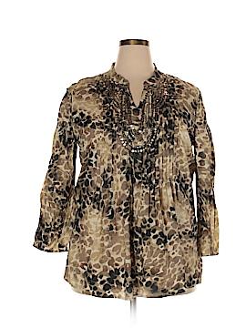JM Collection Long Sleeve Blouse Size 18 (Plus)
