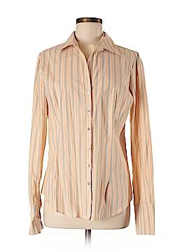 Metrostyle Long Sleeve Button-Down Shirt Size 10