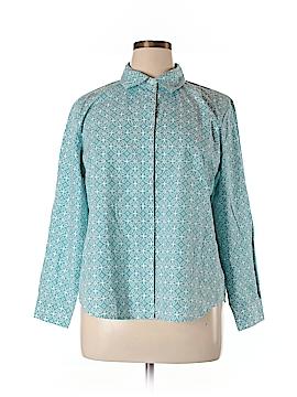 Appleseeds Long Sleeve Button-Down Shirt Size XL (Petite)